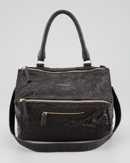 Pandora Medium Old Pepe Satchel Bag, Black