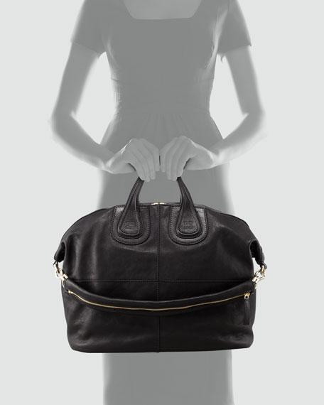 Nightingale Zanzi Large Satchel Bag, Black