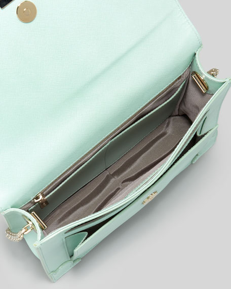 Jourdan Saffiano Crossbody Bag, Mint
