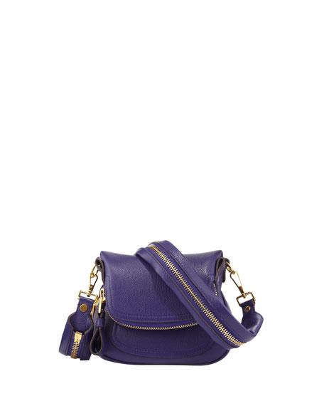 Jennifer Micro Flap-Top Messenger Bag, Violet