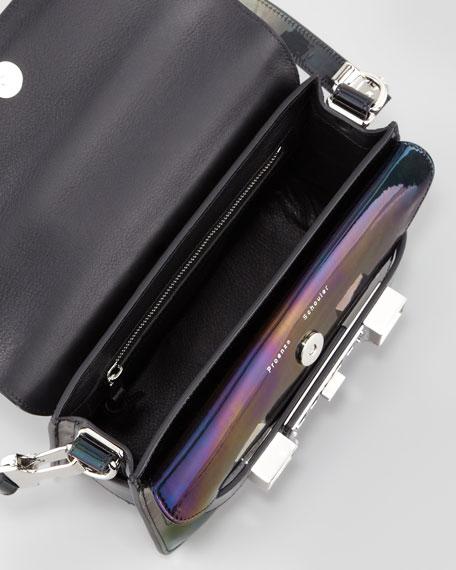 PS11 Mini Classic Oil Slick Shoulder Bag, Black