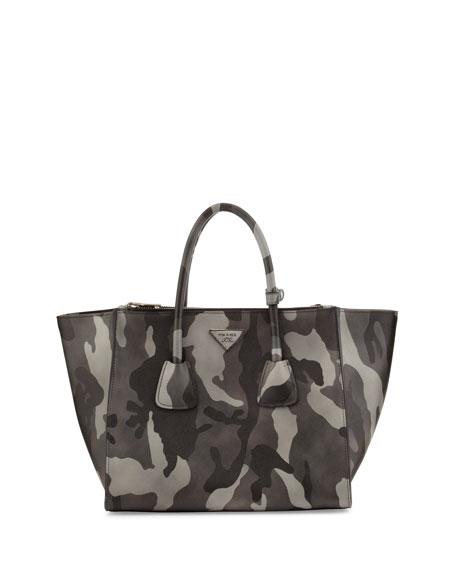 prada saffiano lux tote bag pink - Prada Saffiano Soft Medium Camo Tote Bag