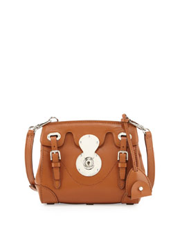 Ralph Lauren Soft Ricky 33 Calfskin Satchel Bag, Light Brown
