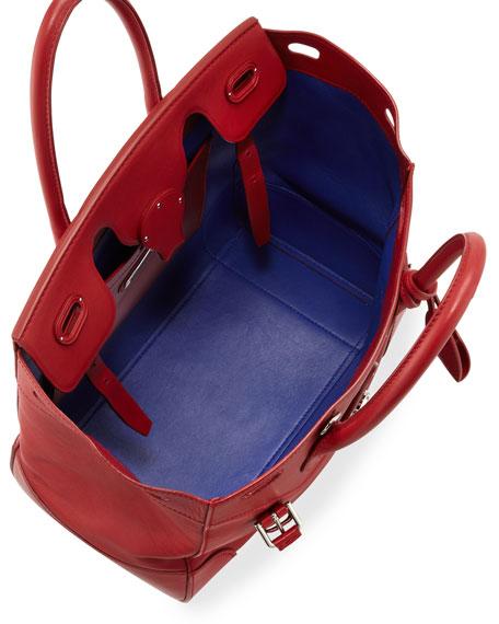 ba74e90a34 Soft Ricky 33 Calfskin Satchel Bag Red