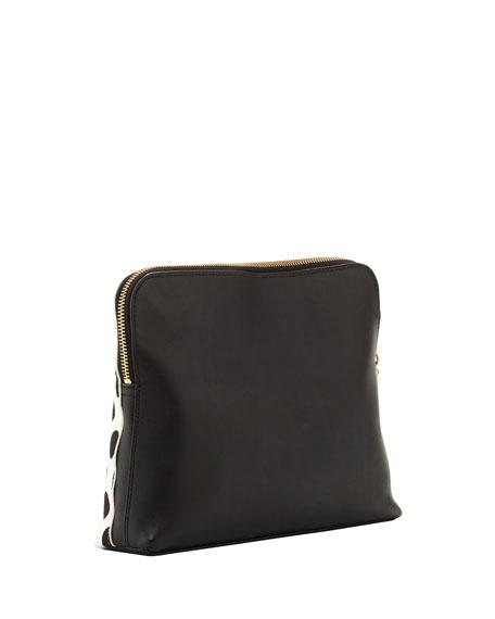 31-Minute Polka Dot Cosmetic Bag, Black/White