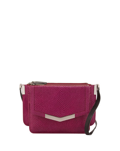 Trilogy Mini Embossed Leather Crossbody Bag