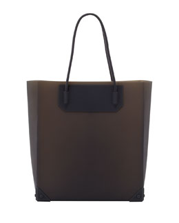 Alexander Wang Prisma Molded Silicone Tote Bag, Dark Gray