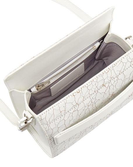 Chastity Mini Crackled Clutch Bag, White