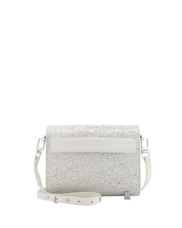 Alexander Wang Chastity Mini Crackled Clutch Bag, White
