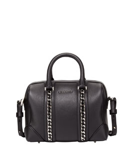Givenchy Lucrezia Mini Chain-Link Satchel Bag, Black