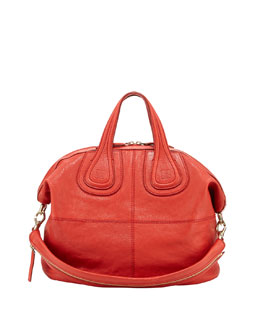Givenchy Nightingale Medium Zanzi Satchel Bag, Red