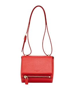 Givenchy Pandora Mini Box Crossbody Bag, Red