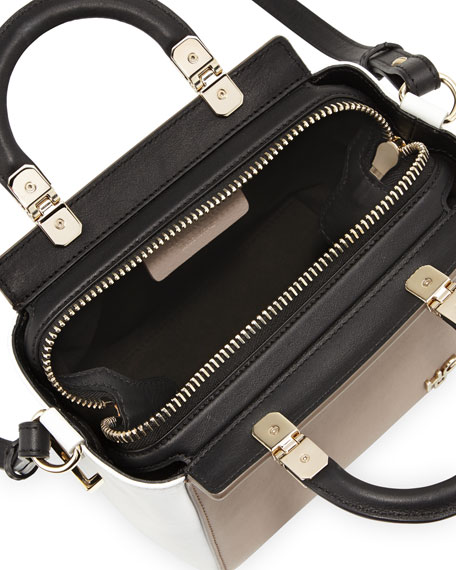 HDG Mini Top-Handle Crossbody Bag, Beige