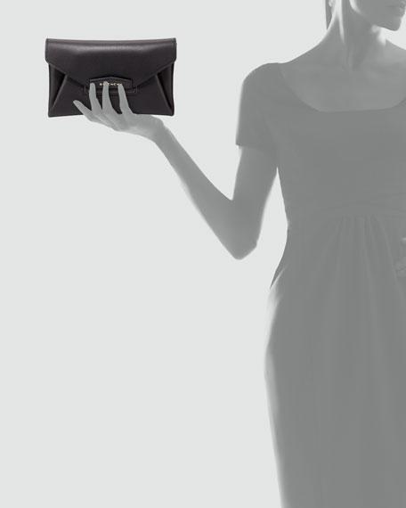 Antigona Small Sugar Envelope Clutch Bag, Black