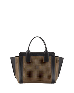 Chloe Alison Small Perforated Tote Bag