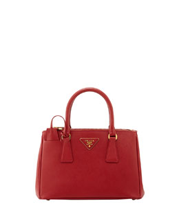 Prada Saffiano Baby Executive Tote Bag with Strap, Red