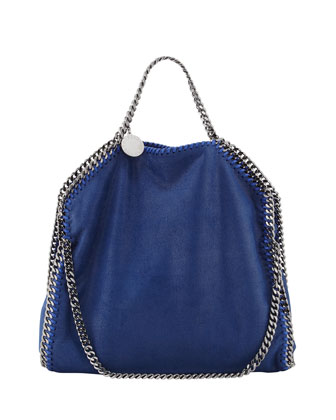 Falabella Small Fold-Over Tote Bag, Blue