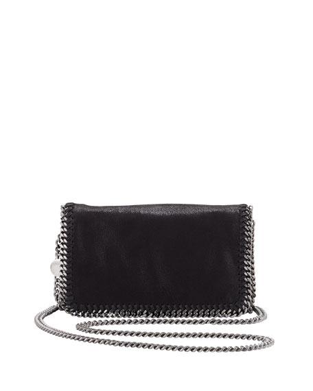 Falabella Mini Flap Crossbody Bag, Black