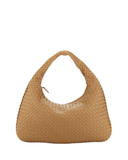 Bottega Veneta Medium Veneta Hobo Bag, Beige