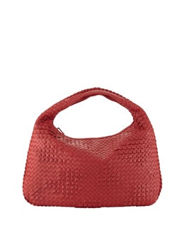 Bottega Veneta Veneta Large Waves Sac Hobo, Red
