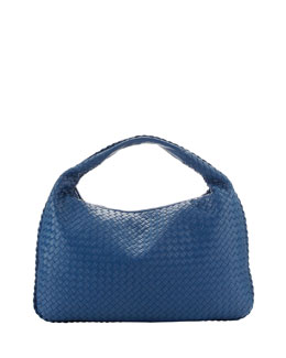 Bottega Veneta Veneta Large Hobo Bag, Blue