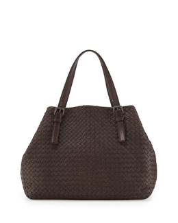 Bottega Veneta Large Double-Strap A-Shape Tote Bag, Brown Light
