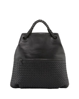 Bottega Veneta Julie Veneta Shoulder Bag, Black