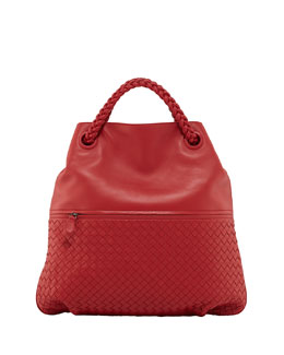 Bottega Veneta Julie Veneta Shoulder Bag, Red
