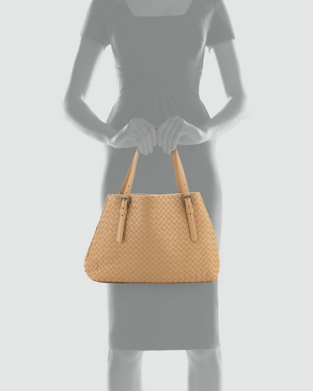 Small A-Shape Tote Bag, Light Brown
