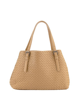 Bottega Veneta Small A-Shape Tote Bag, Light Brown