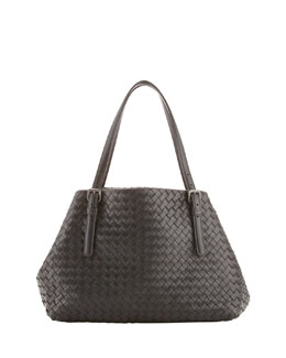 Bottega Veneta Small A-Shape Tote Bag, Black