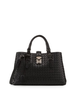 Bottega Veneta Roma Leggero Small Tote Bag, Black