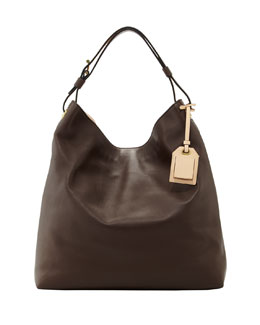 Reed Krakoff RDK Leather Hobo Bag, Bark