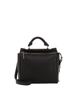 3.1 Phillip Lim Ryder Small Stitched Leather Satchel Bag, Black