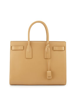 Saint Laurent Sac de Jour Large Carryall Bag, Tan