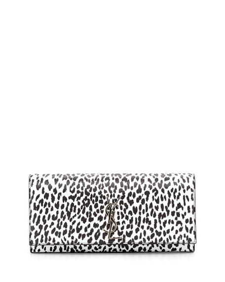 d7dc069fabb Saint Laurent Cassandre Babycat Clutch Bag, Black/White