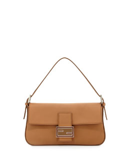 Fendi Leather Baguette with Interchangeable Straps, Tan