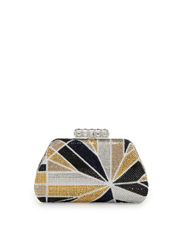 Judith Leiber Sweet Kiss Set Sail Clutch Bag, Gold