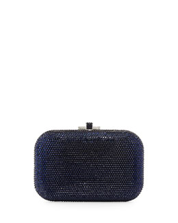 Judith Leiber Slide-Lock Crystal Clutch Bag, Royal