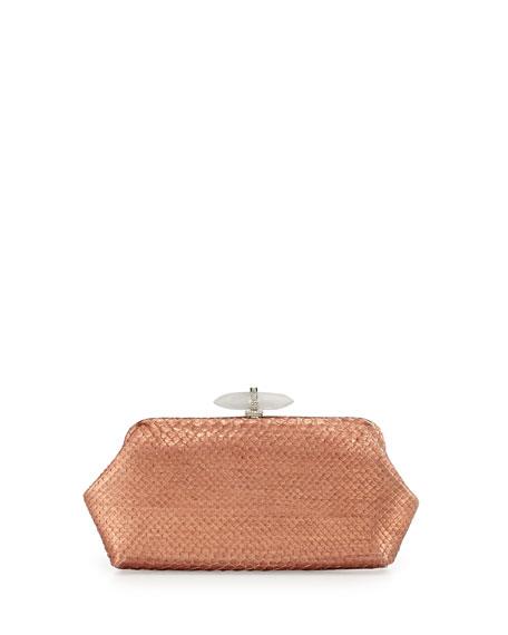 Whitman Metallic Python Clutch Bag, Copper