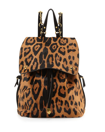 Florent Leopard-Print Backpack