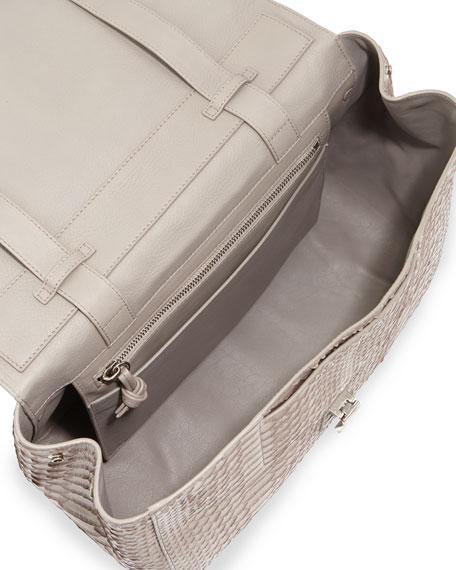 PS Courier Large Python Shoulder Bag, Gray