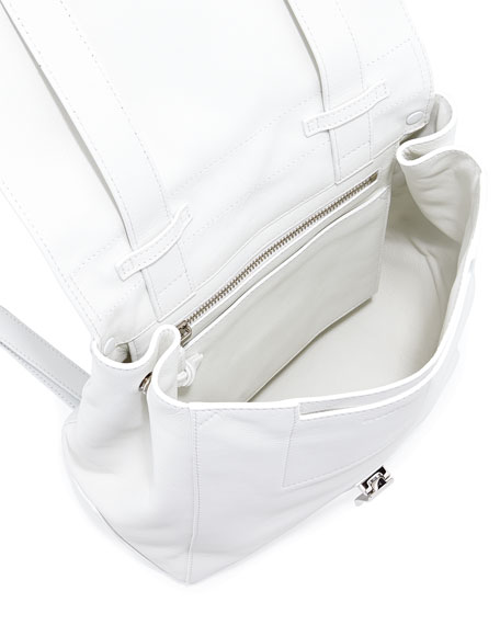 PS Small Leather Backpack, White