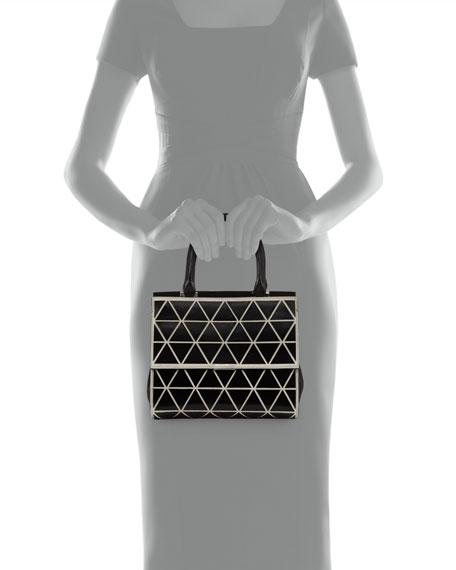 Mini Triangle Soft Tote Bag with Strap, Black