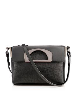 Passage Pebbled Messenger Bag, Black