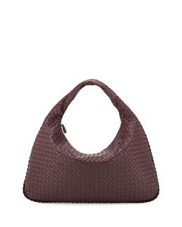 Bottega Veneta Veneta Large Hobo Bag, Burgundy