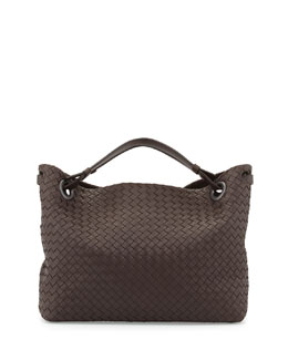 Bottega Veneta Medium Double Shoulder Bag, Dark Brown
