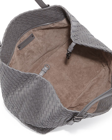 Medium A-Shaped Tote Bag, Light Gray