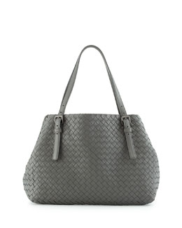 Bottega Veneta Medium A-Shaped Tote Bag, Light Gray