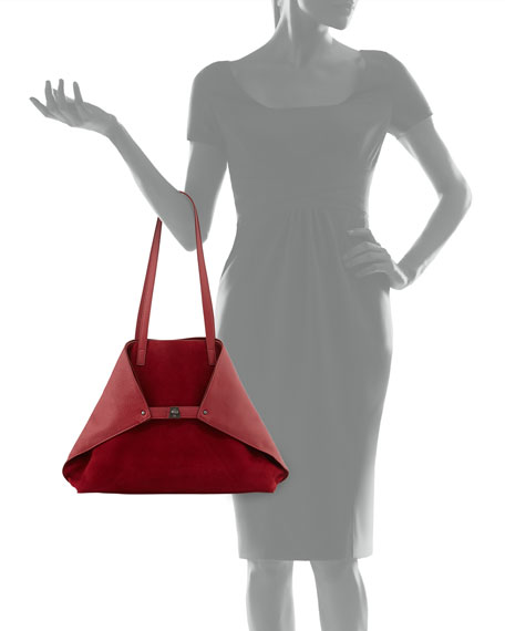 Ai Medium Combo Shoulder Tote Bag, Burgundy